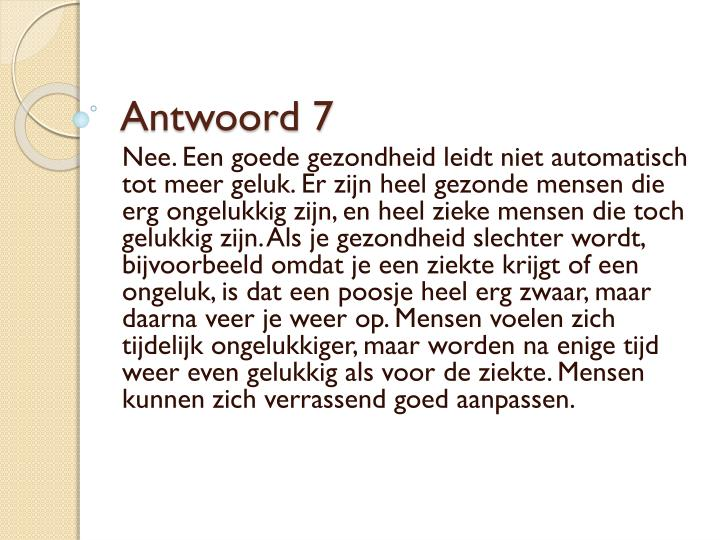 Antwoord 7