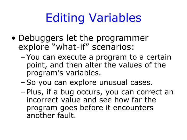 Editing Variables