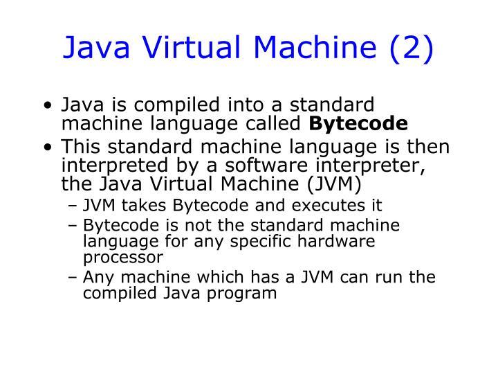 Java Virtual Machine (2)