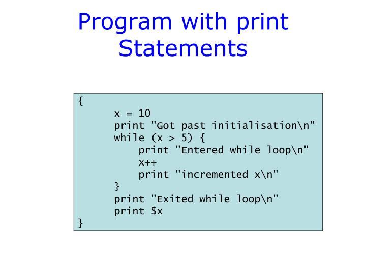 Program with print Statements