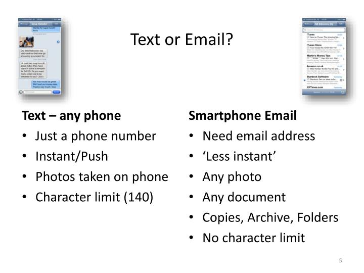Text or Email?