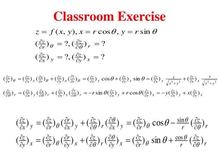 Classroom Exercise