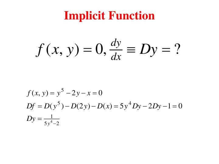 Implicit Function