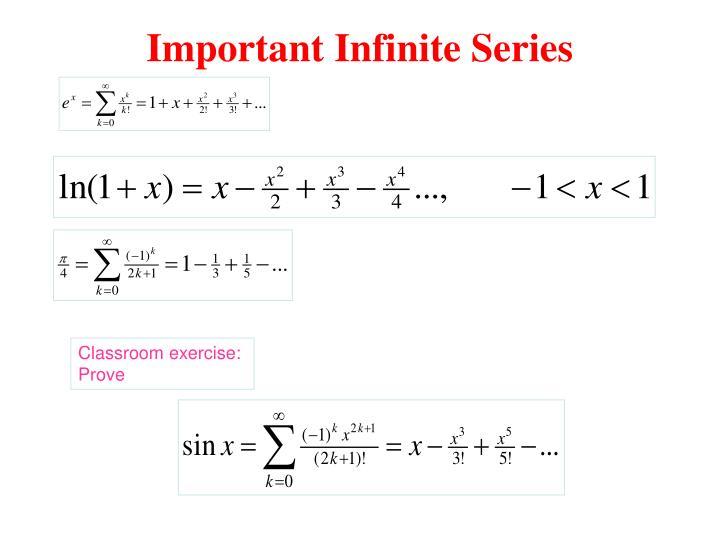 Important Infinite Series