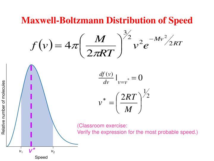 Maxwell-Boltzmann Distribution of Speed