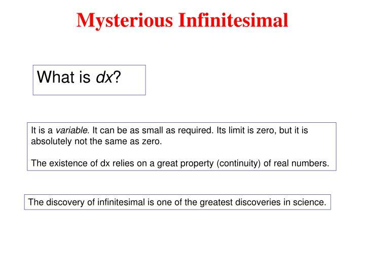 Mysterious Infinitesimal