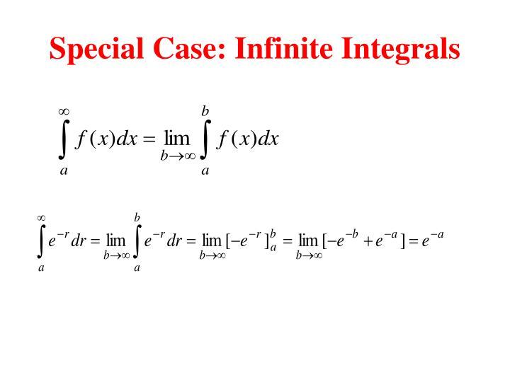 Special Case: Infinite Integrals