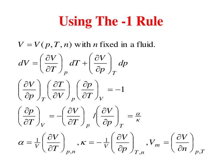 Using The -1 Rule