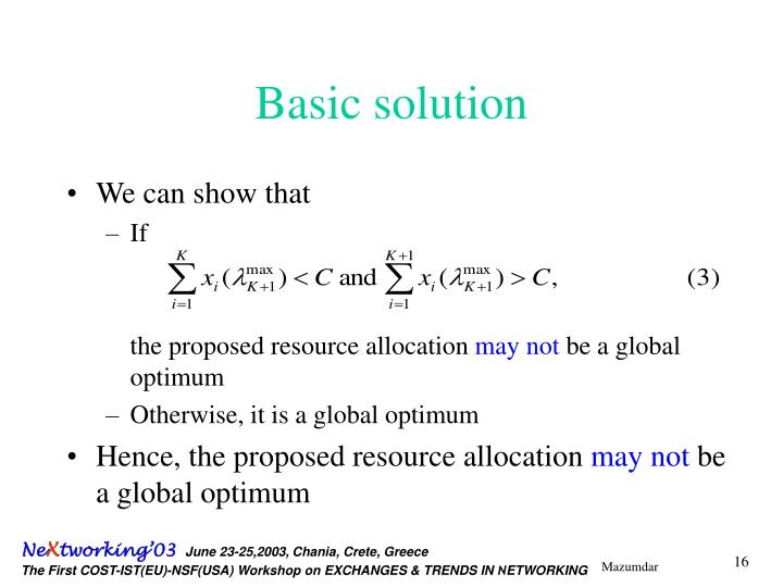 Basic solution