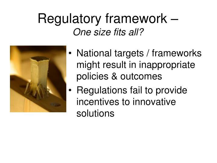 Regulatory framework –