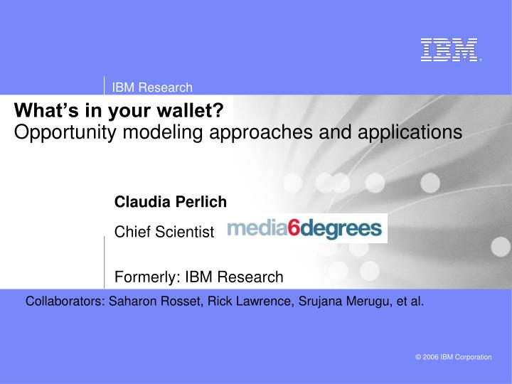 what s in your wallet opportunity modeling approaches and applications n.