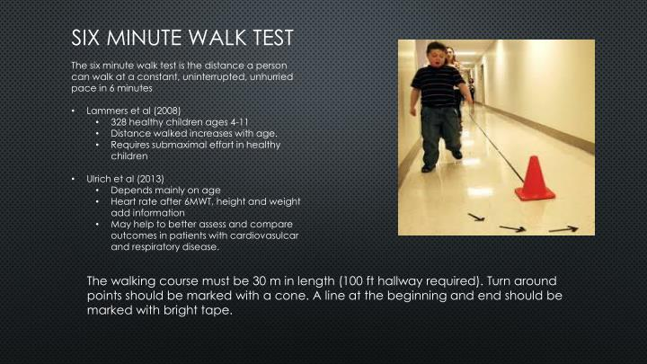 Ats guidelines for the six minute walk test by dr kartik sood.