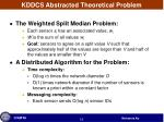 kddcs abstracted theoretical problem