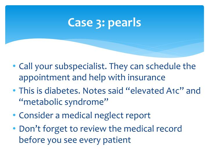 Case 3: pearls