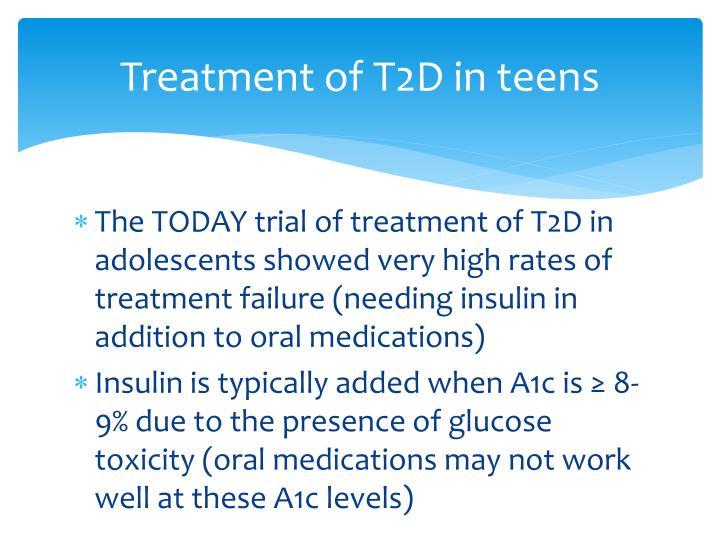 Treatment of T2D in teens