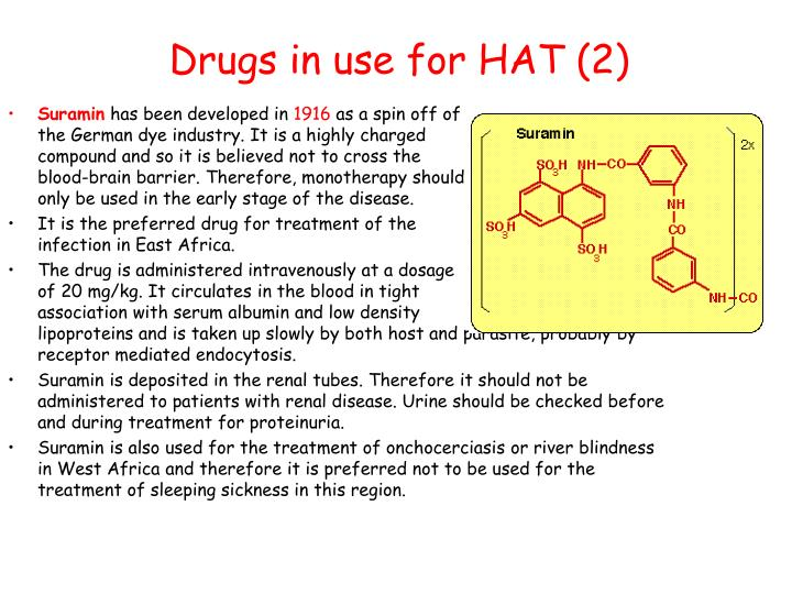 Drugs in use for HAT (2)