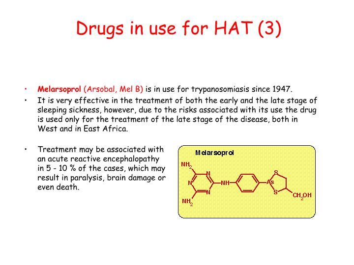 Drugs in use for HAT (3)