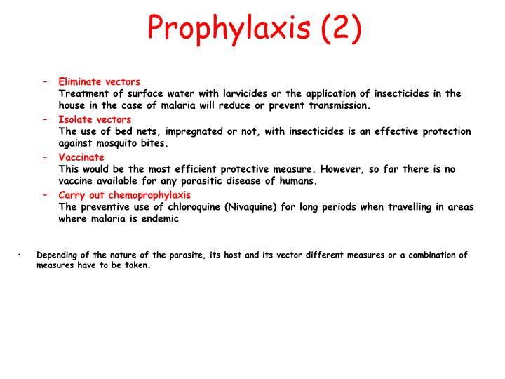 Prophylaxis (2)