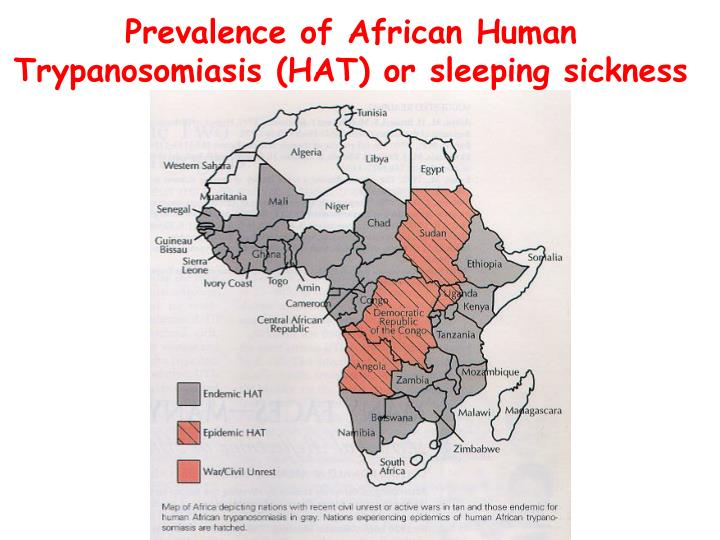 Prevalence of African Human Trypanosomiasis (HAT) or sleeping sickness