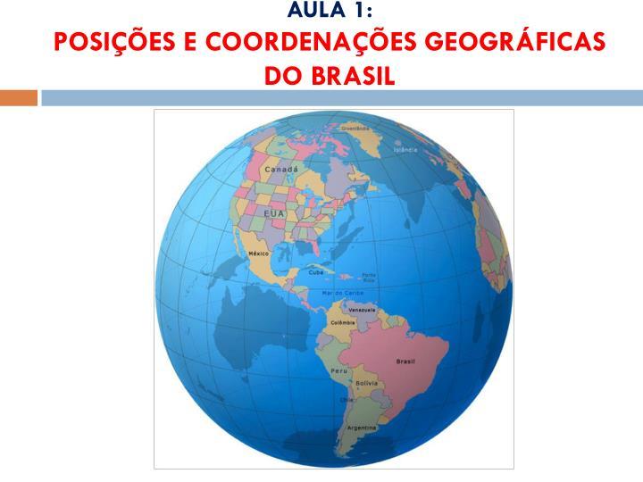 Aula 1 posi es e coordena es geogr ficas do brasil