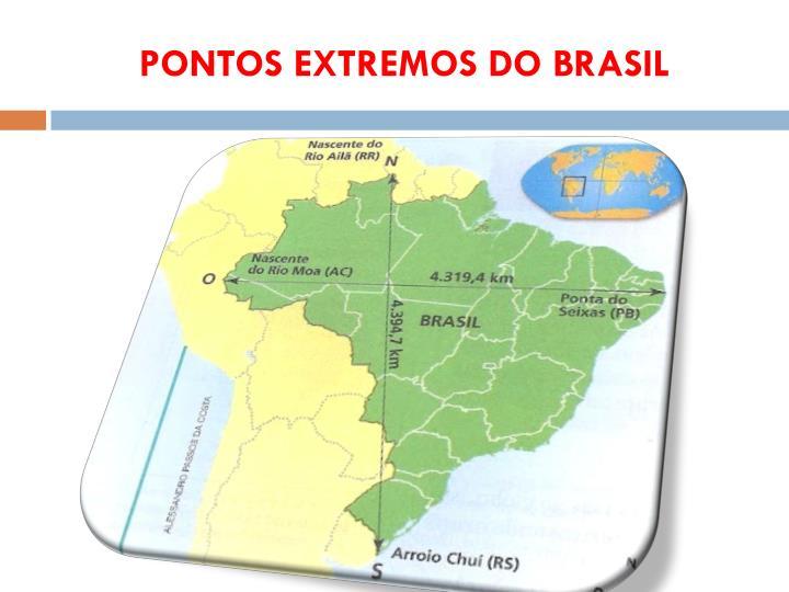 PONTOS EXTREMOS DO BRASIL