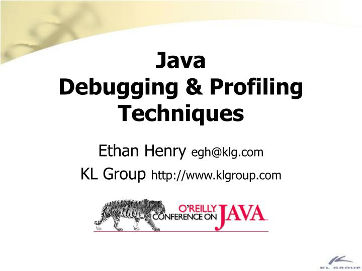 java debugging profiling techniques n.