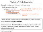 inductive code generation1