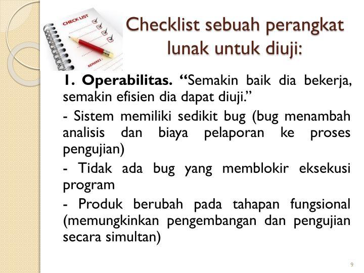 Checklist sebuah