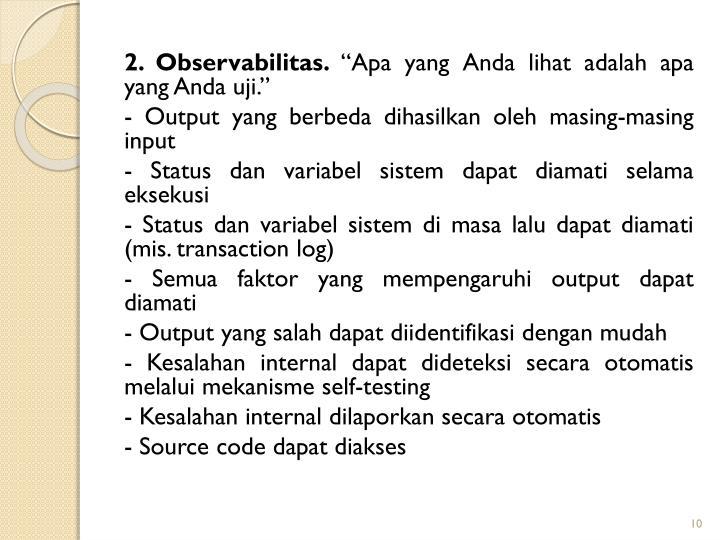2. Observabilitas