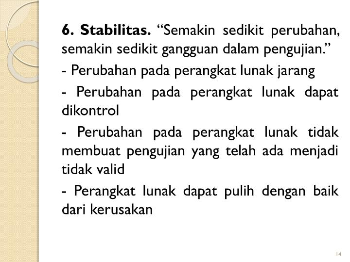 6. Stabilitas