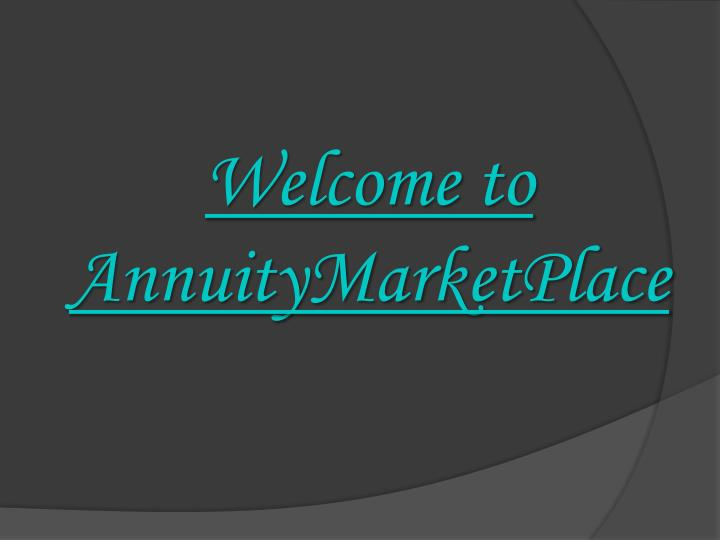 welcome to annuitymarketplace n.