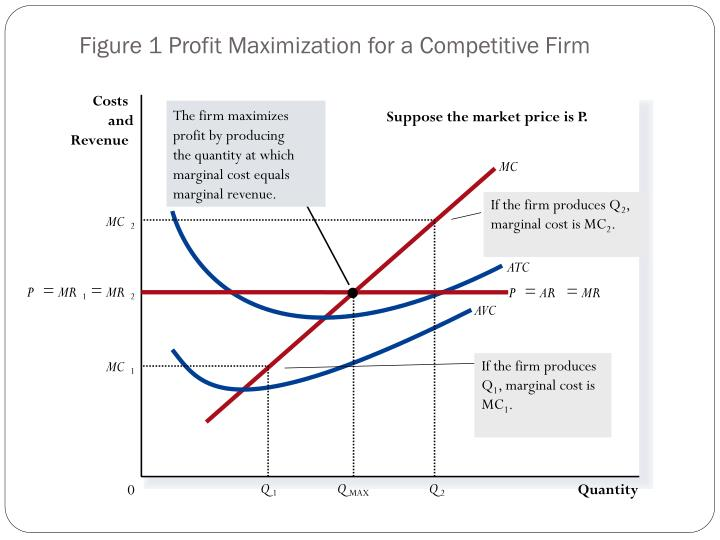 The firm maximizes