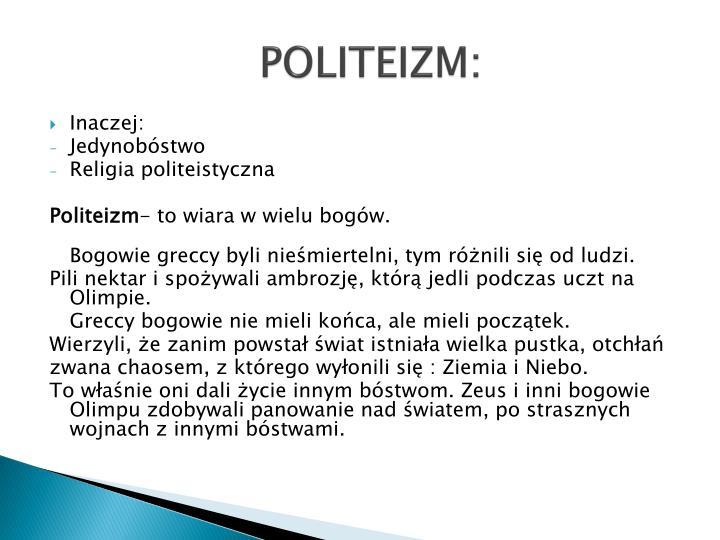 Politeizm
