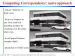 computing correspondence na ve approach
