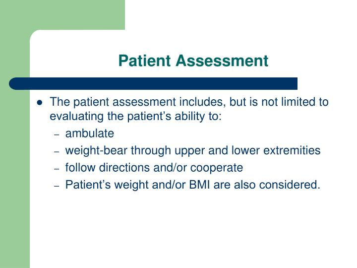 Patient Assessment