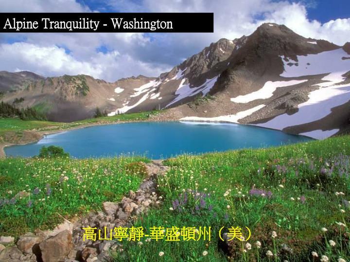 Alpine Tranquility - Washington