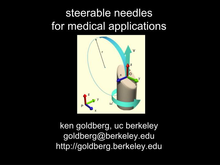 steerable needles for medical applications n.