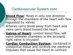 cardiovascular system cont1