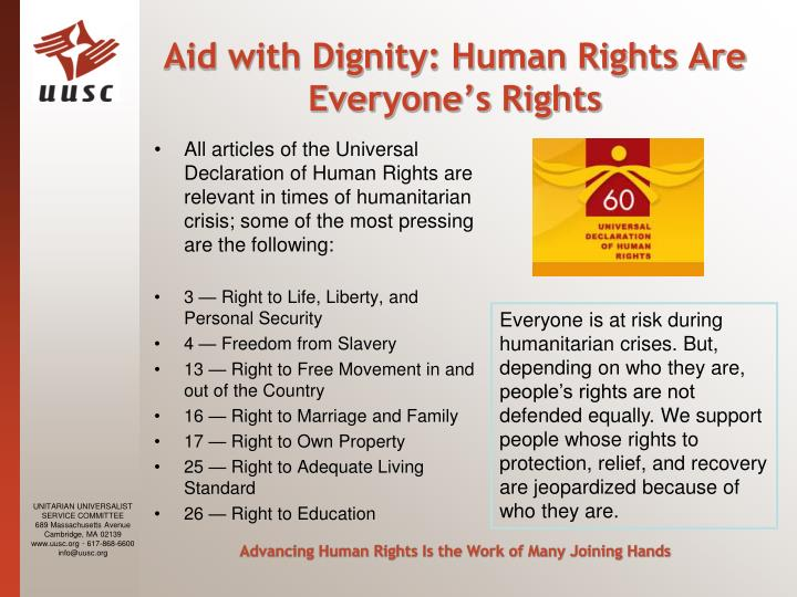 Aid with Dignity: Human Rights Are Everyone's Rights