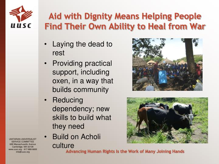 Aid with Dignity Means Helping People Find Their Own Ability to Heal from War