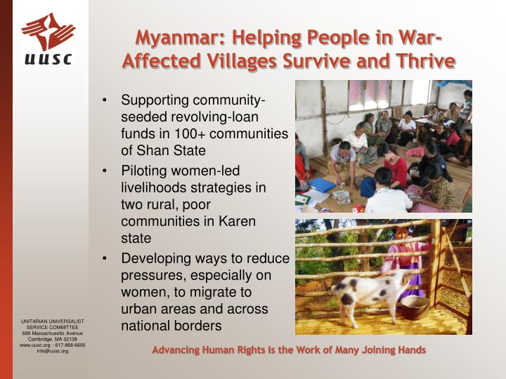 Myanmar: Helping People in War-Affected Villages Survive and Thrive