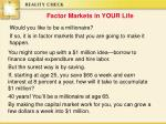 factor markets in your life