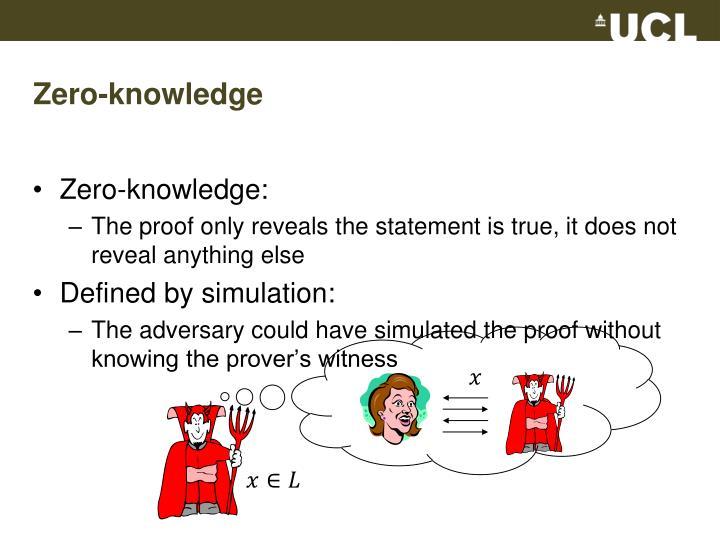Zero-knowledge