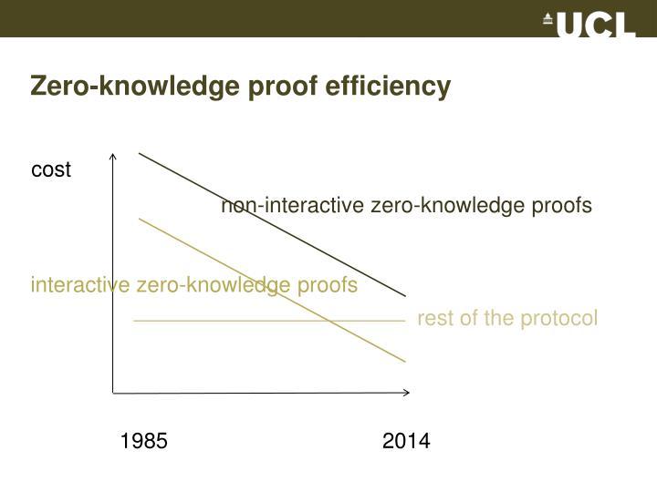 Zero-knowledge proof efficiency