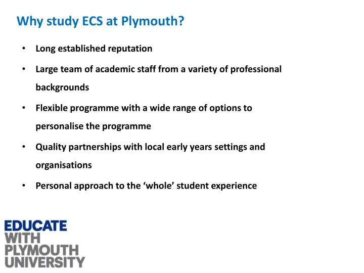 Why study ECS at Plymouth?