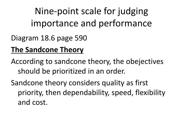 Nine-point scale for judging importance and performance