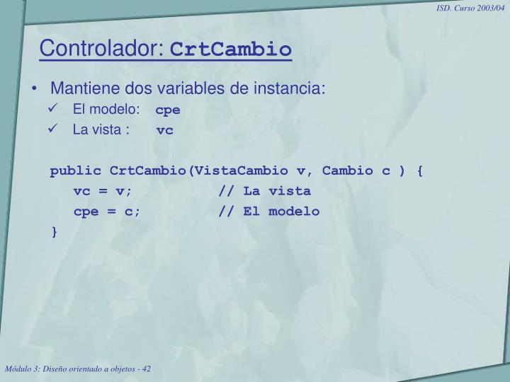 Controlador: