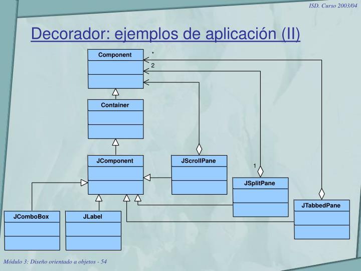 Decorador: ejemplos de aplicación (II)
