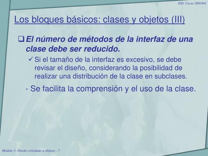 Los bloques básicos: clases y objetos (III)