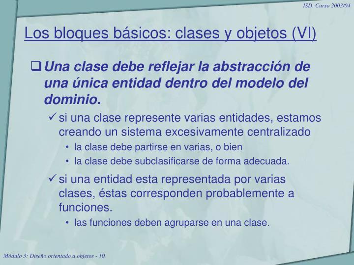 Los bloques básicos: clases y objetos (VI)